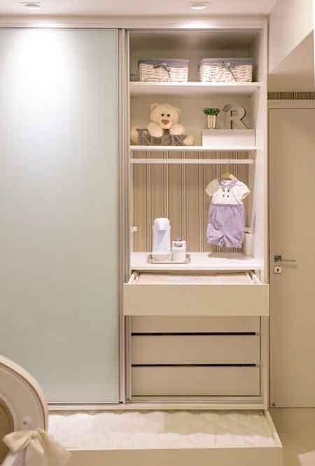 Armario Do Bebe : Trocador dentro do armario fernanda duarte interiores