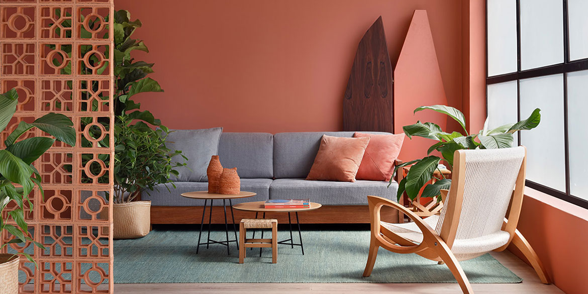 SALA LIVING CORAL COR DO ANO PANTONE 2019
