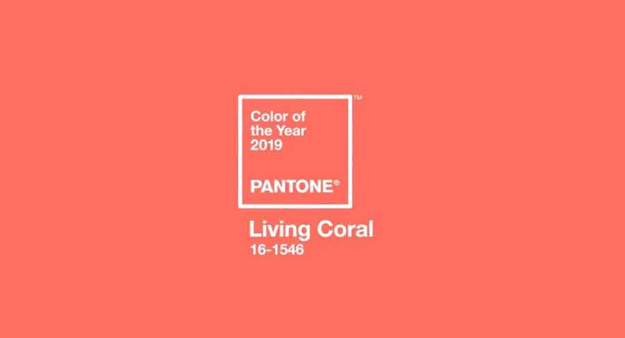 LIVING CORAL CORAL VIVO COR DO ANO PANTONE 2019