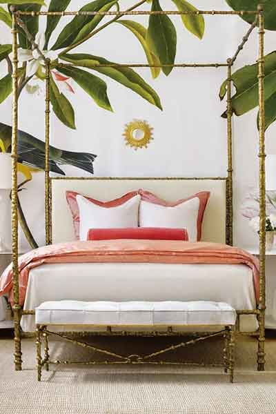QUARTO DECORADO COM A COR LIVING CORAL PANTONE 2019